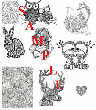 Adult Coloring Book 51 Pages - 13 Small, 36 Standard, 1 Large & 1 Jumbo