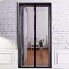 LARGE MESH INSECT DOOR COVER Mosquito/Bug/Fly Cover/Curtain Wide Magnetic Screen