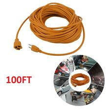 H61 100 FT 16Gauge Indoor Outdoor Heavy Duty Power Extension Cord Orange UL