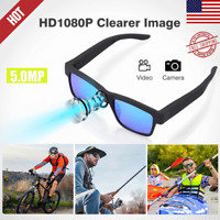 HD 1080P 5MP Hidden Camera Sunglasses Glasses Mini Eyewear Audio Video Recorder