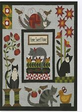 Purrfectly Pieced Wool/Woolies Flannel Applique Complete Quilt Pattern & Buttons
