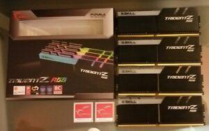 32GB G.Skill DDR4 TridentZ RGB 4000Mhz Quad Kit (4x8GB) MINT & BOXED,