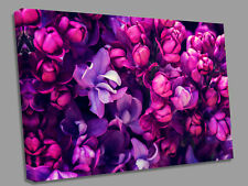 Purple Bunch flowers Bunch  Canvas Wall Art Picture Print