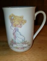 "1991 Precious Moments Cup Personalize Name ""Debbie"" Samuel J. Butcher Coffee Mug"