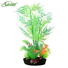 "11"" Glow in the Dark Artificial Bamboo Leaf Fish Tank Decorative Aquarium Plant"