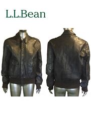LL BEAN Flying Tiger Leather Bomber Flight Jacket. Thinsulate Lined. USA.