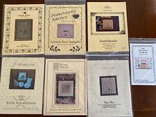 Lot of 7 SAMPLER Cross Stitch Charts Homespun Drawn Thread R&R Praiseworthy