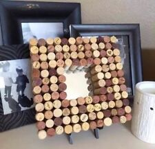 Wine Cork Board Wall Art Mirror 10x10 Modern Shabby Chic
