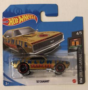 2021 Hot Wheels #110 - Chevy '67 Camaro (Worldwide Gold - Short Card) - New