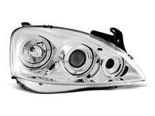 Headlights fits to OPEL CORSA C 11.00 - 09.06 ANGEL EYES CHROME Tuning Sport