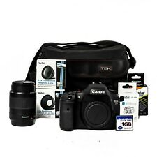 Canon Eos 7D 18.0 Mp Digital Slr Camera Ef 80-200mm Lens And Accessories Bundle