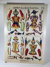 Vintage 1979 Paper Jumping Jacks Fantocci Pantins Hampelmänner NOS New Old Stock
