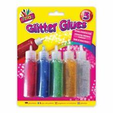 5 X Glitter Glue Kids Childrens Art Craft Shimmer School Supplies Stationery 20g