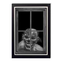 Creepy Clown Staring Through Window Framed Glossy Poster 24 x 36in