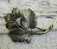 alte große blütenbrosche mit markasiten doublè od tombak