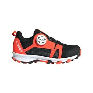 Kids Hiking Trainers adidas Terrex Agravic BOA Black Red Outdoor Walking Shoes