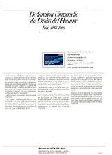 DOCUMENT PHILATELIQUE DECLARATION DROITS HOMME - n° 2559