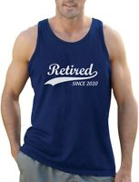 Retired Since 2020 - Funny Retirement Gift Novelty Men's Tank Top Cool