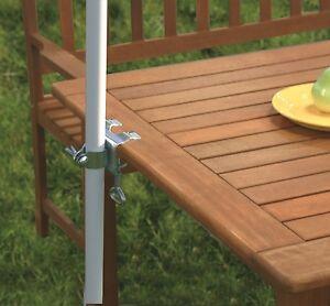 Tischklammer für Sonnenschirm Schirmklammer Halterung Halter Tisch #450649 e