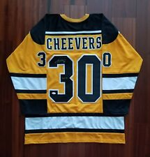 Gerry Cheevers Autographed Signed Jersey Boston Bruins JSA