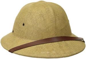 Adult Safari Pith Hat British Jungle Explorer Helmet Tan Hat New