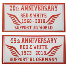 Hells Angels Support Autocollant Anniversary Red & White 70th World/45th GERMANY