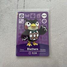 BLATHERS #202 Animal Crossing Amiibo Card Authentic Mint Nintendo Series 3