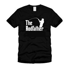 The Rodfather Funny Movie Parody Godfather Cool Fishing Gift Ideal Black T-Shirt