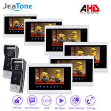 JeaTone AHD 7'' TFT LCD Wired Video Door Phone System Visual Intercom Doorbell