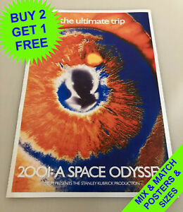 2001: A SPACE ODYSSEY (1968) • THE ULTIMATE TRIP • A4 - A1 SIZE • POSTER PRINT