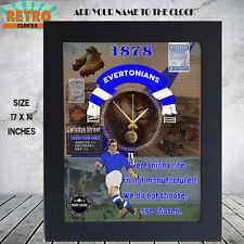 Personalised  Retro Vintage Everton  football  supporters  Metal Clock