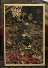 Michael Jordan 1998 Upper Deck UD Retrospect MJ 3X5 Post Card #MJR4 Dunk Contest