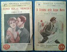 2 Vol Romantica economica Sonzogno: Sono sola. Venite! -Il dramma delle Acque -L