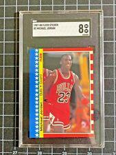Michael Jordan - 1987-88 Fleer Basketball Sticker - #2 - SGC Graded 8