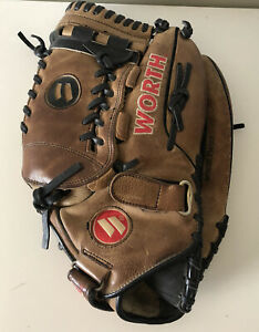 Worth Tumble Milled TM140 Baseball Glove 14in Right Hand Thrower RHT