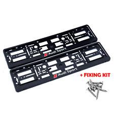 2x Kennzeichenhalter Nummernschildhalter für AUDI SPORT RS S