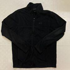 Oakley Women's S Small Fleece Jacket Sweatshirt Black Logo Full Zip