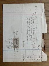 Quittance avec Timbre (Marboué - 28) 1911