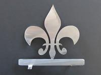 Fleur de Lis Mailbox Topper Bare Steel Home Plaque Art Silhouette 7 Inch USA