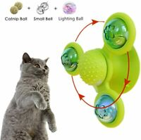 Windmill Cat Toy Turntable Teasing Interactive Cat Toy Spin Toy with Suction Cup