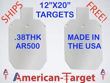 """American-Target AR500 3/8 steel target 11 3/4"""" x 20"""" silhouette target"""