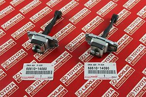 Toyota Supra JZA80 Front Door Check Stop Pair Set 2JZGTE OEM Genuine 68610-14080