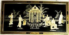 CHINESE  ORIENTAL CULTURAL FRAMED HANGING  WALL ART COLLECTIBLE ITEM