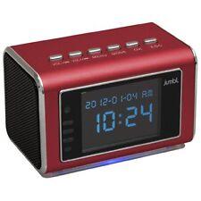 Jumbl Mini Hidden Spy Camera Radio Clock w/Infrared Night Vision  - Red