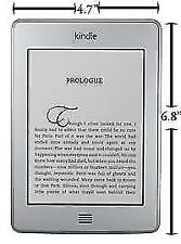 Amazon Kindle Touch 4th Generation 3GB eReader D01200 Gray Tested