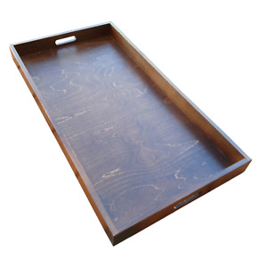 Extra Large Wooden Serving Tray 75 cm x 40 cm x 6 cm, - Brown