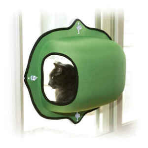 "K&H PET PRODUCTS 9182 Green EZ MOUNT WINDOW POD KITTY SILL GREEN 27"" X 20"" X 20"""