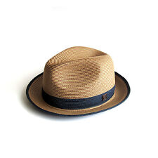 Dasmarca Florence Packable Foldable TwoTone Retro Summer Straw Hat Fedora Trilby