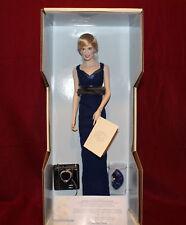 "17"" Princess Of Wales Porcelain Portrait Doll Diana By Franklin Mint,NIB"