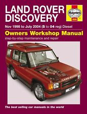 Haynes Owners Workshop Manual Land Rover Discovery Diesel (98-04) SERVICE REPAIR
